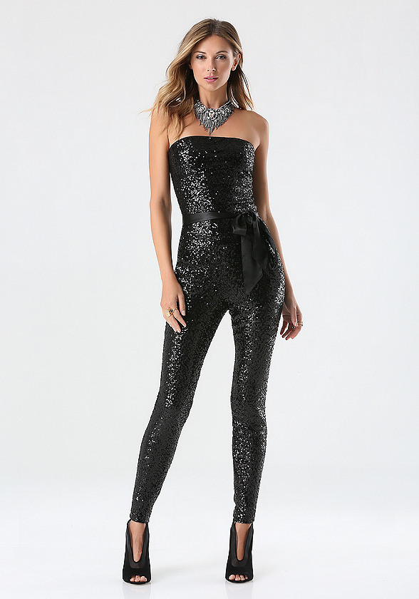 Collection Black Sequin Jumpsuit Pictures - Reikian