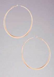 Texture Double Hoop Earring at bebe