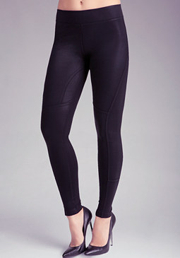 Coated Seam Leggings at bebe