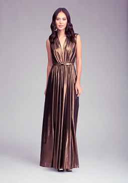 Deep V-Neck Maxi Dress at bebe