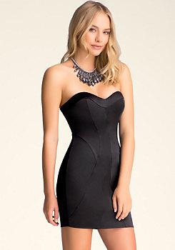 Seamed Strapless Dress at bebe