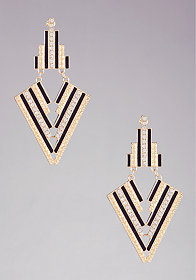 bebe Art Deco Crystal Statement Earring