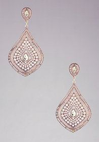 bebe Faceted Stone & Crystal Teardrop Earring