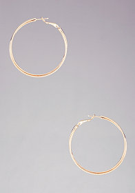 bebe Crisscross Textured Hoop Earring