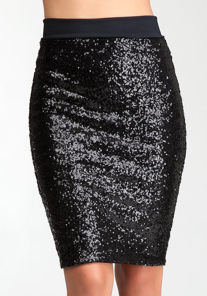 Sequin Midi Skirt - Bottoms | bebe