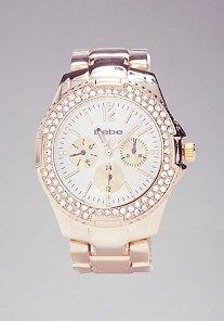 Classic Round Link Watch at bebe
