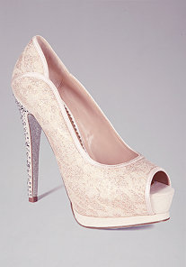 Danita  Lace Peep Toe Pump - ONLINE EXCLUSIVE at bebe