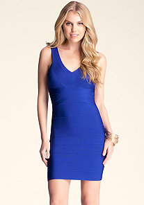 V Neck Bandage Dress at bebe