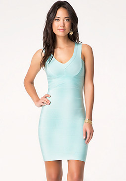 V-Neck Bandage Dress at bebe