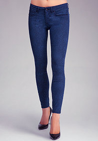 Snake Jacquard Icon Skinny Jeans at bebe