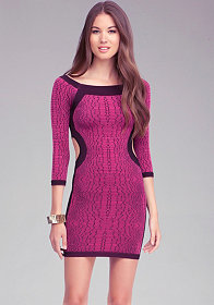 Crocodile Print Bodycon Dress - ONLINE EXCLUSIVE at bebe