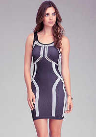 Shaped Colorblock Dress - ONLINE EXCLUSIVE at bebe
