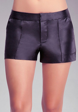 bebe Carrie Leather Trouser Shorts