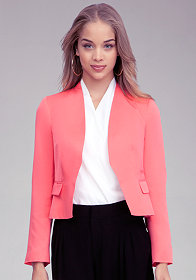 bebe Collarless Blazer