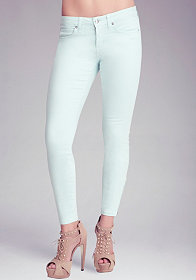 Ankle Zip Icon Skinny Jeans at bebe