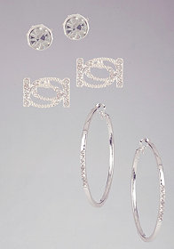 Interlocked Logo Earring Set at bebe