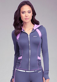 Ruched Hoodie Jacket - BEBE SPORT at bebe