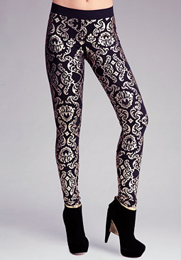 bebe Damask Printed Legging
