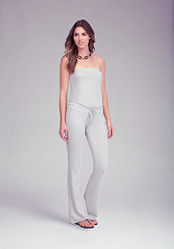 Logo Strapless Jumpsuit at bebe