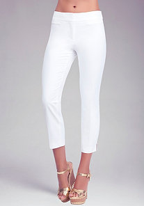 Slit Crop Pants at bebe