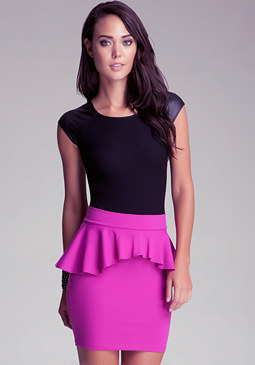 bebe Leatherette Sleeveless Top