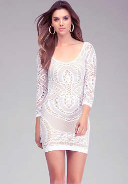 Crochet Lace Bodycon Dress at bebe