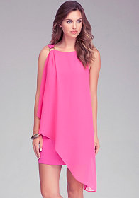 Shoulder Drape Dress at bebe