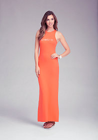 bebe Logo Yummy Maxi Tank Dress