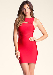 Crew Neck Bandage Dress at bebe