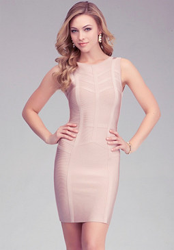 Chevron Stripe Bandage Dress at bebe