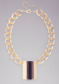 Multi Chain Statement Short Necklace at bebe