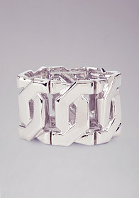 bebe Oversized Stretch Chainlink Bracelet