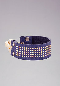 bebe Mini Stud & Leather Bracelet