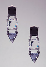 bebe Geometric Stone Drop Earring