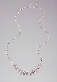 bebe Chain & Spike Long Necklace