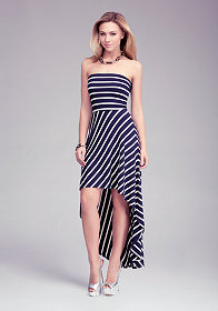 Stripe Tube High Low Dress at bebe