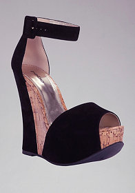 Carissa Cork Wedge Sandals at bebe