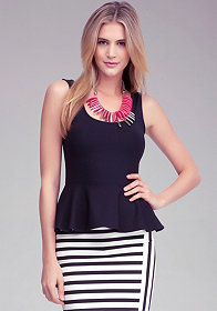 Peplum Tank Top at bebe