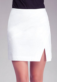 bebe High Slit Geometric Skirt