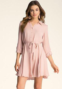 bebe Silk A-Line Dress