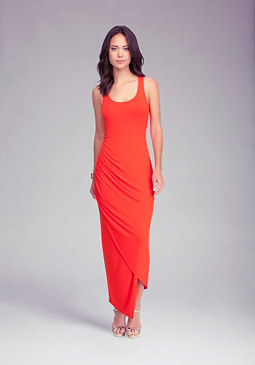 Asymmetric Sweep Maxi Dress at bebe