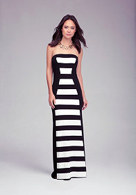 bebe Rugby Stripe Maxi Dress