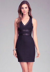 bebe Strap Back Bodycon Dress