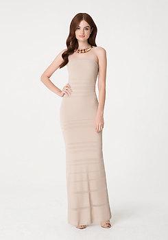 Sheer Strapless Maxi Dress at bebe