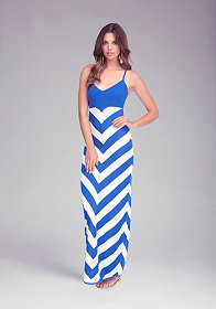 Chevron Stripe Maxi Dress at bebe