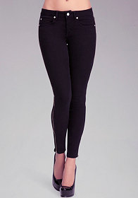 Full Zipper Icon Skinny Jeans at bebe