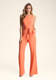 Back Cutout Jumpsuit at bebe