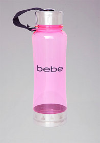 Pink Logo Water Bottle at bebe