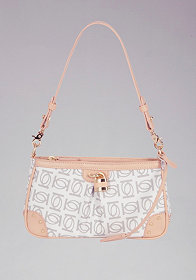 bebe Logo Monogram Shoulder Bag