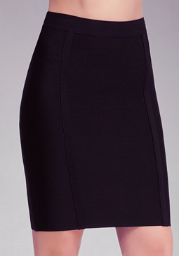 Solid Knit Pencil Skirt at bebe